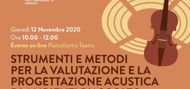 Strumenti e Metodi per la Valutazione e la Progettazione Acustica di Ambienti d'Ascolto